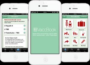 Appen VaccBook håller koll på familjens vaccinationer.